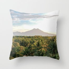 Mighty Volcano Throw Pillow