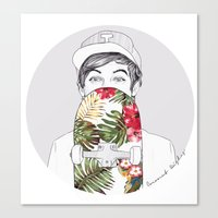 coconutwishes Canvas Prints featuring L Skate by Coconut Wishes