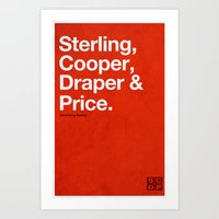 Mad Men | Sterling, Cooper, Draper & Price Art Print