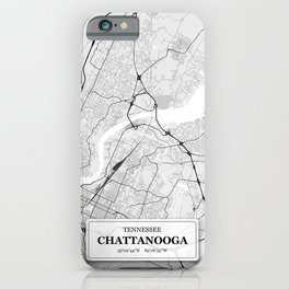 Chattanooga, Tennessee City Map with GPS Coordinates iPhone Case
