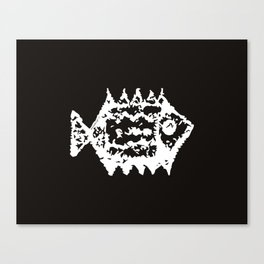 Fish white and black pattern Canvas Print