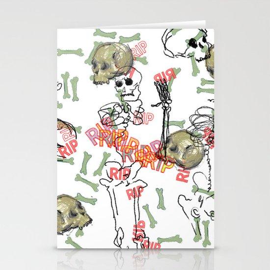 R.I.P. Funky skull joy death thing... I belive  Stationery Cards