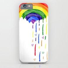 Love Rainbow Rain iPhone 6s Slim Case