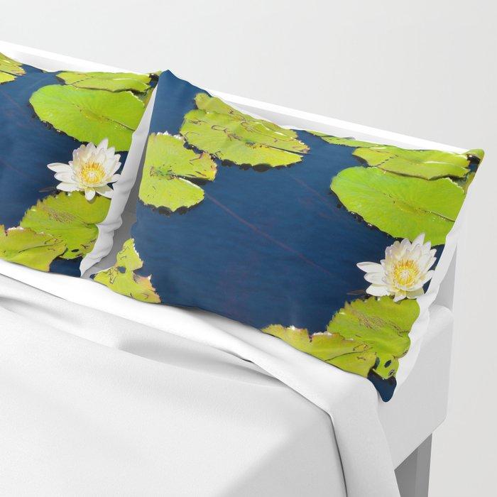 Dark Blue Pond by Teresa Thompson Pillow Sham