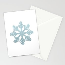 Blue Glitter Snowflake Stationery Cards