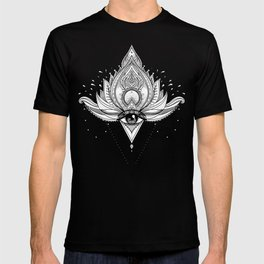 Lotus flower + All seeing eye. T-shirt