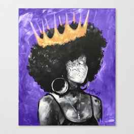 Naturally Queen II PURPLE Canvas Print