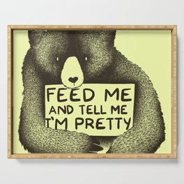 Feed Me And Tell Me I'm Pretty (Yellow) Serving Tray