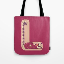 L for Lemur Tote Bag