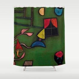 """Paul Klee """"Pflanze und Fenster Stilleben (Still life with Plant and Window)"""" Shower Curtain"""