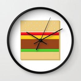 Box Hamburger Wall Clock