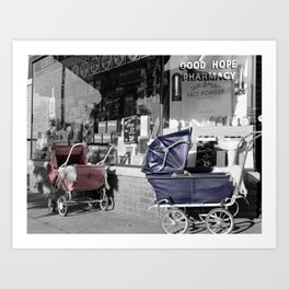 Vintage Baby Strollers Art Print