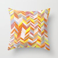 blanket Throw Pillows featuring Blanket by Tonya Doughty