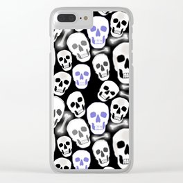 Small Tiled Skull Pattern Clear iPhone Case