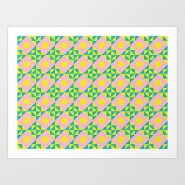 Seamless colorful pattern 3 / abstract / geometric Art Print