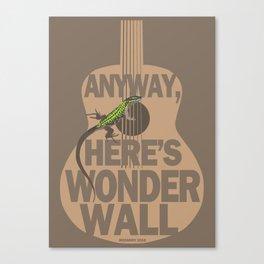 Wonder Wall Lizard Canvas Print