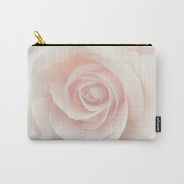 Blush Pink Rose Carry-All Pouch