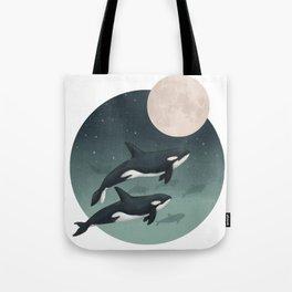 moonlight caravan // orcas Tote Bag