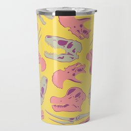 Skull Roll - Yellow & Pink Travel Mug