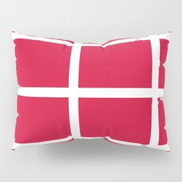 abstraction from the flag of denmark Pillow Sham