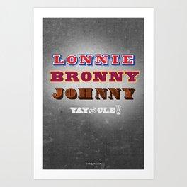 Lonnie, Bronny, Johnny Art Print