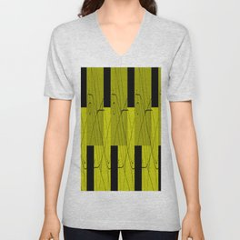 Yellow green Unisex V-Neck