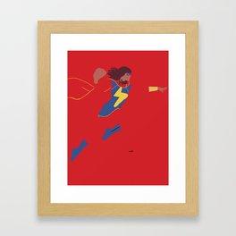 Kamala Khan Framed Art Print
