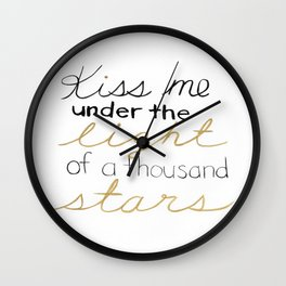 Thinking Out Loud 2 Wall Clock