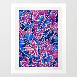 Schismatoglottis Calyptrata – Indigo Palette Art Print