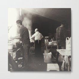 The Street Food Chef Metal Print
