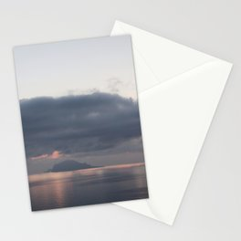 sunrise over the sea, sicily Stationery Cards