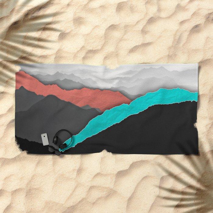 Mountain Highlights Beach Towel