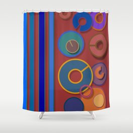 Abstract #54 Shower Curtain