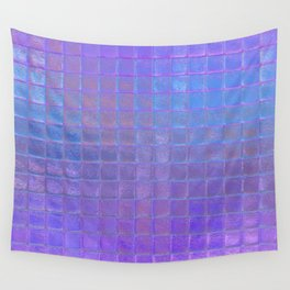 Iridescent Squares Wall Tapestry