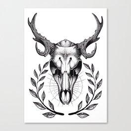Dotwork Deer Canvas Print