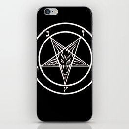 Ave Satanas (White) iPhone Skin