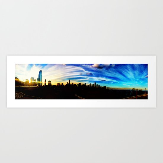 Chicago's Painted Sky Art Print