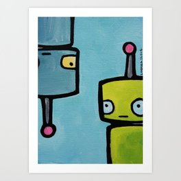 Robot - Recognizing You Through Time Art Print