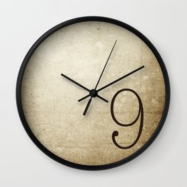 NUMBER 9  Wall Clock