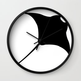 manta fish Wall Clock