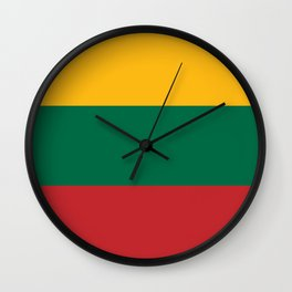 Flag: Lithuania Wall Clock