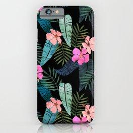 Island Goddess Tropical Black iPhone Case