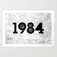 1984 Art Prints featuring 1984 by ayarti