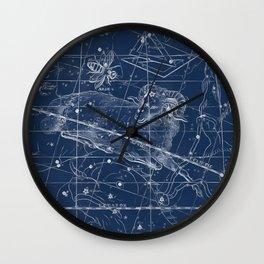 Aries sky star map Wall Clock