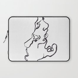 one line kiss Laptop Sleeve