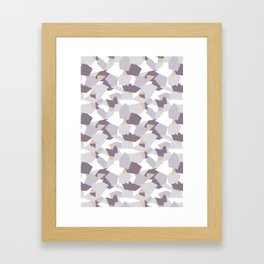 Violet abstract forms Framed Art Print