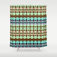 oasis Shower Curtains featuring Oasis by Ornaart