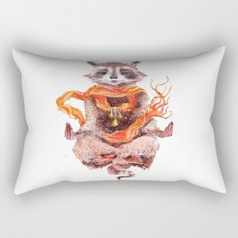 Raccoon buddha w Rectangular Pillow