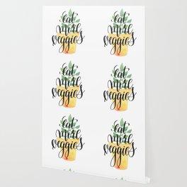 Eat More Veggies Quote Wallpaper