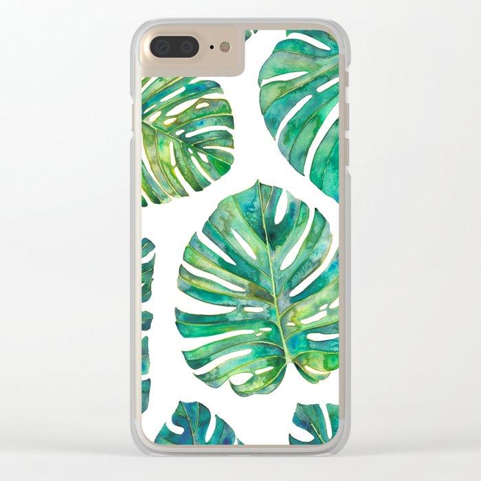 Big Leafs Clear iPhone Case